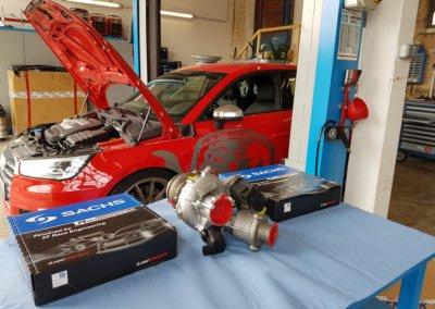 Material Sachs Performance Kupplung und PCB 350+ Lader