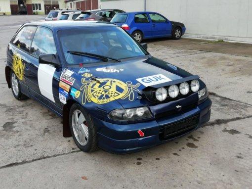 Opel Astra GSI blau